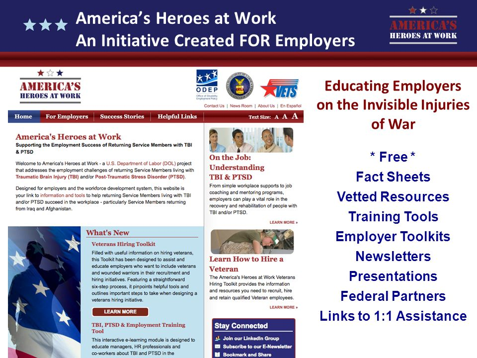 America's Heroes at Work An Initiative Created FOR Employers