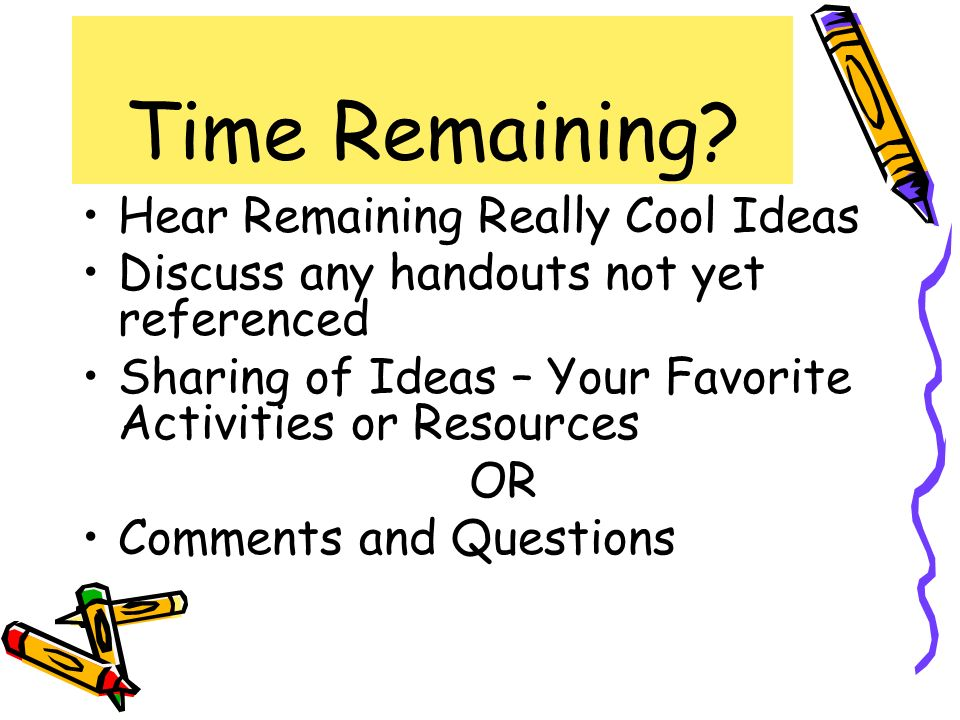 Time Remaining Hear Remaining Really Cool Ideas