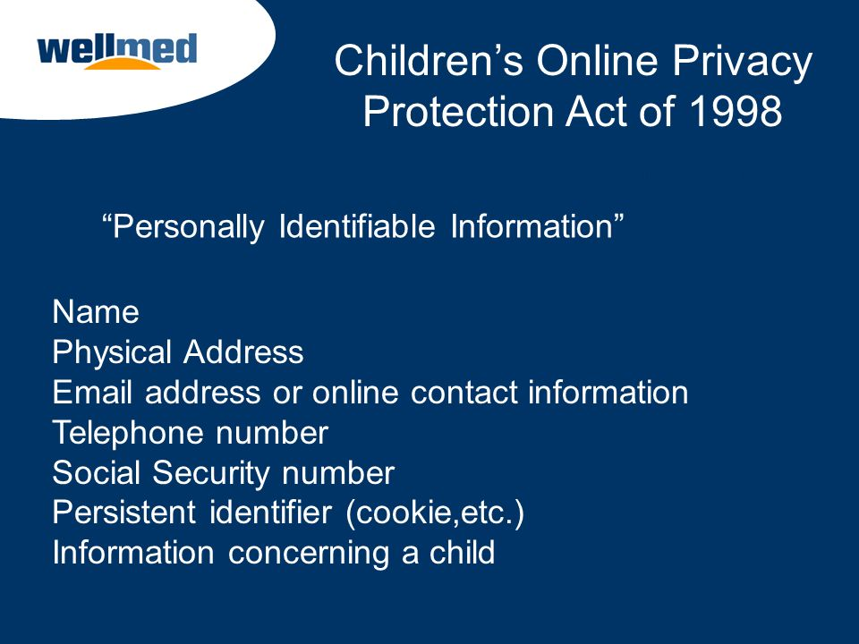 Children's Online Privacy Protection Act of 1998