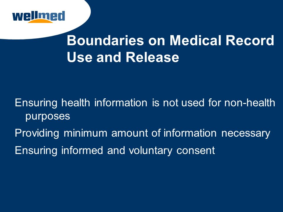Boundaries on Medical Record Use and Release