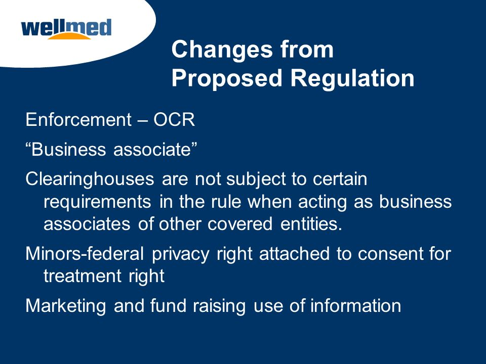 Changes from Proposed Regulation
