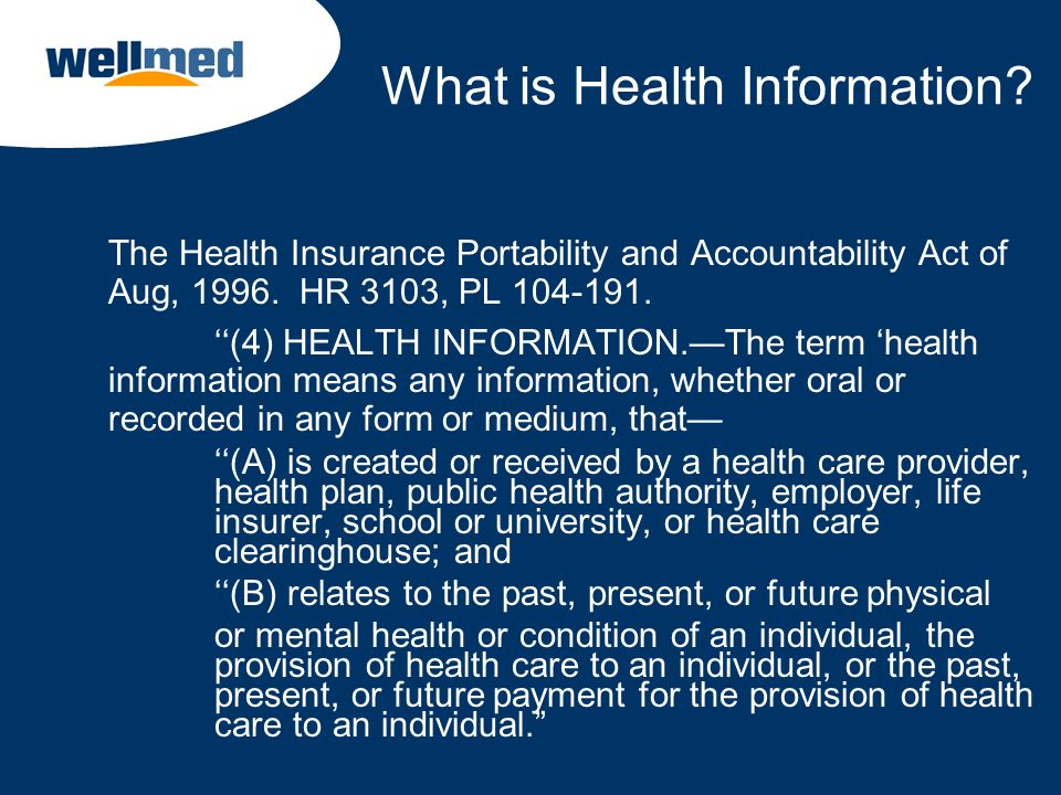 What is Health Information