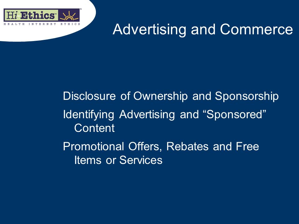 Advertising and Commerce