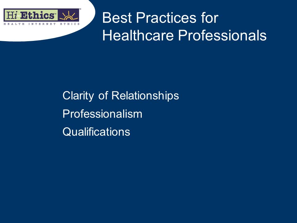 Best Practices for Healthcare Professionals