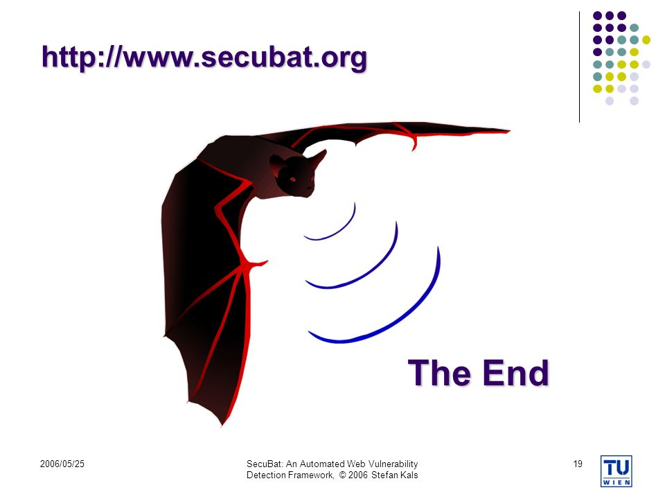 The End http://www.secubat.org