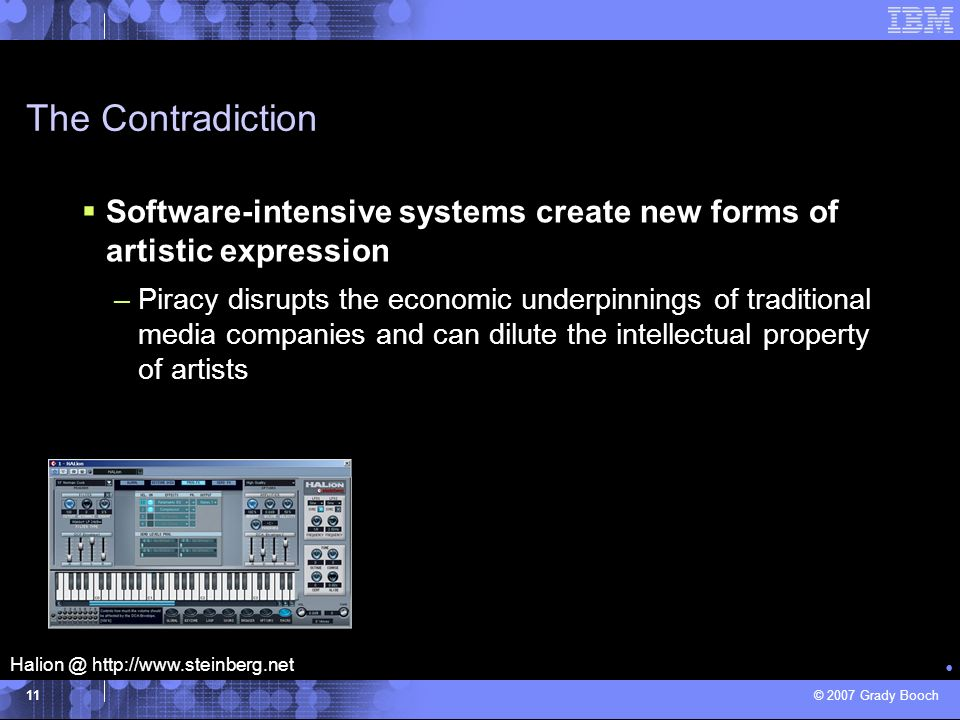 The Contradiction Software-intensive systems create new forms of artistic expression.