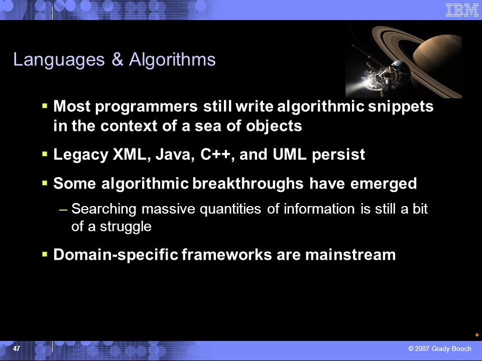 Languages & Algorithms