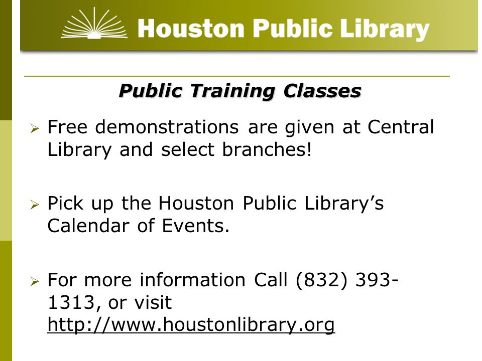 Public Training Classes