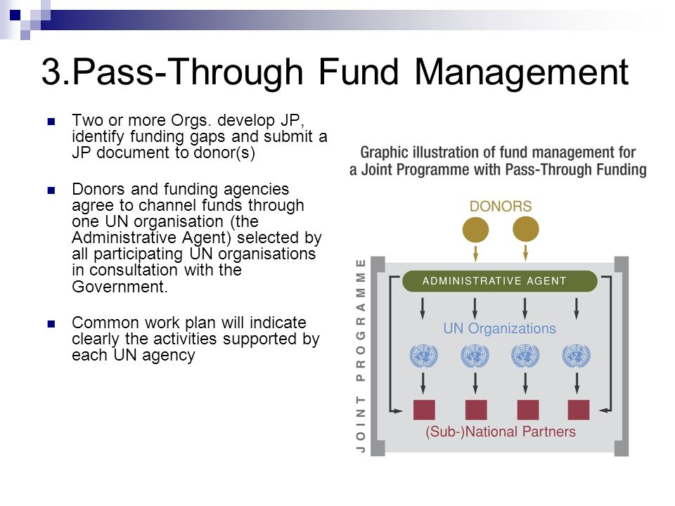 3.Pass-Through Fund Management