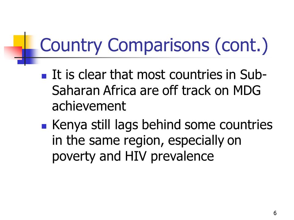 Country Comparisons (cont.)