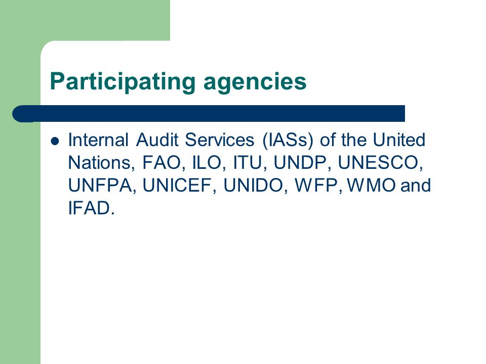 Participating agencies