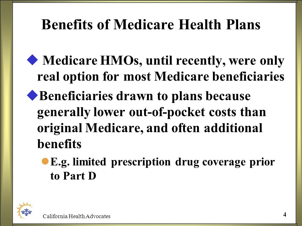 Benefits of Medicare Health Plans