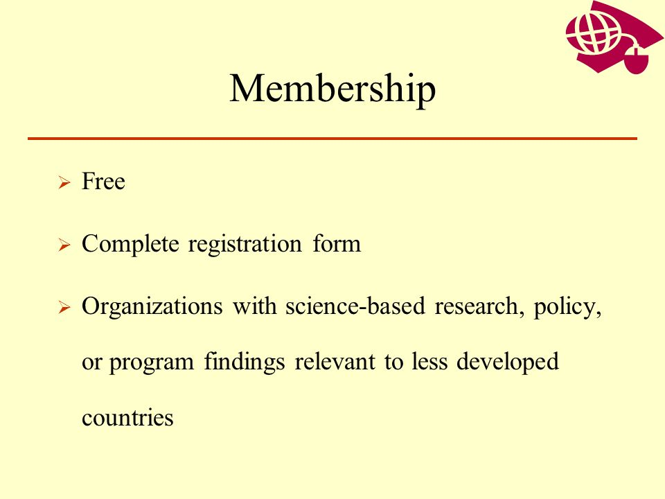 Membership Free Complete registration form