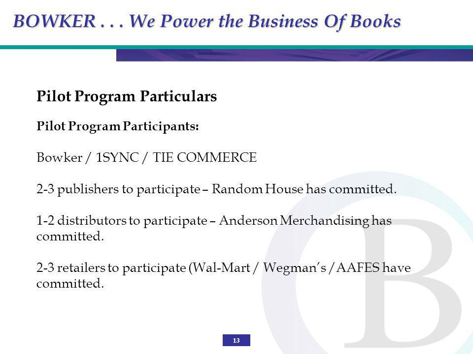 BOWKER . . . We Power the Business Of Books