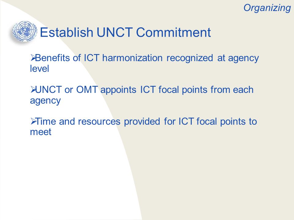 Establish UNCT Commitment
