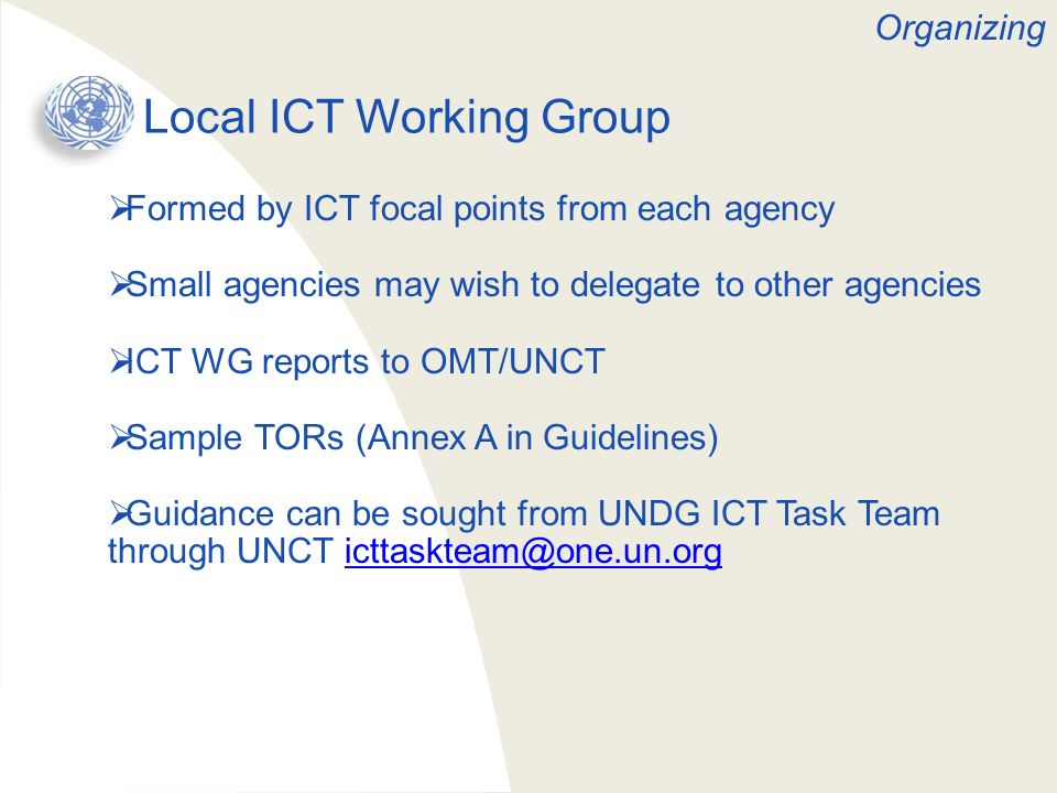 Local ICT Working Group