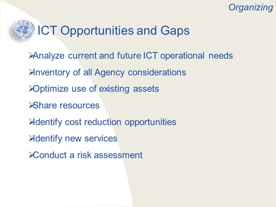 ICT Opportunities and Gaps
