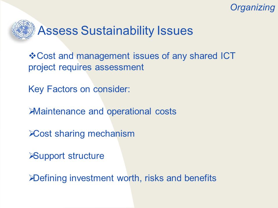 Assess Sustainability Issues