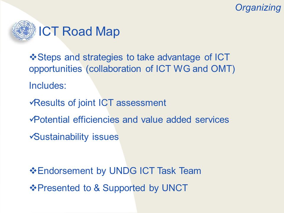 ICT Road Map Organizing