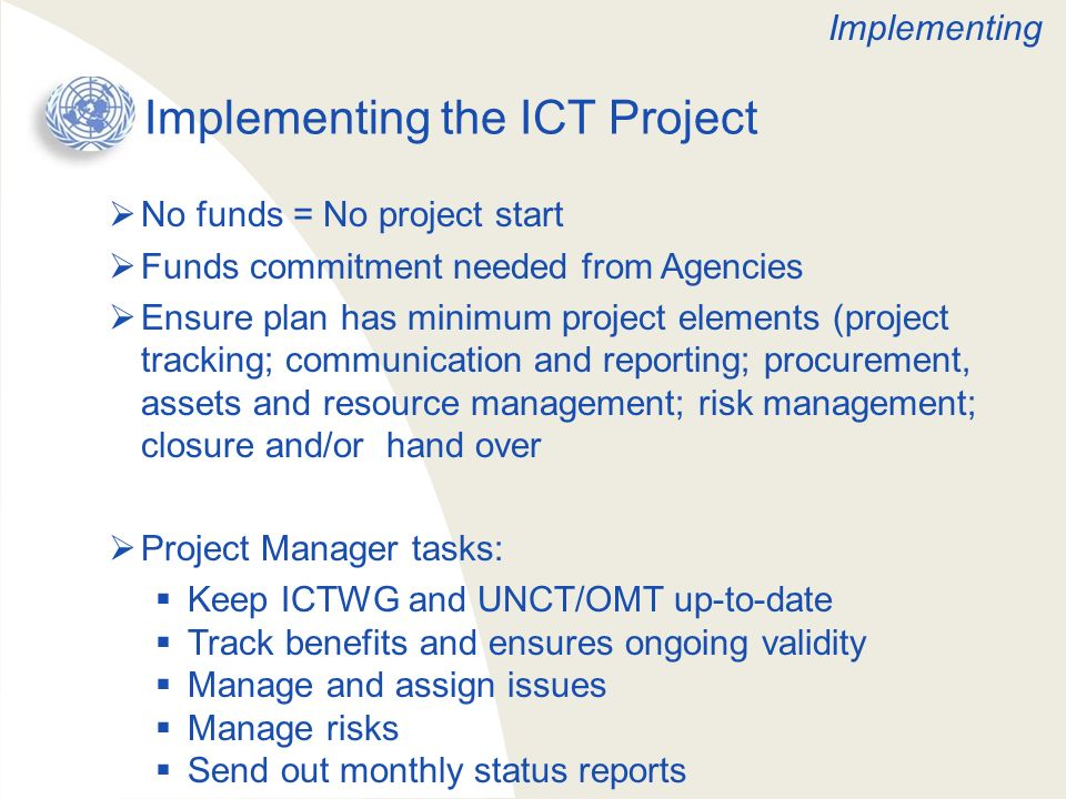 Implementing the ICT Project