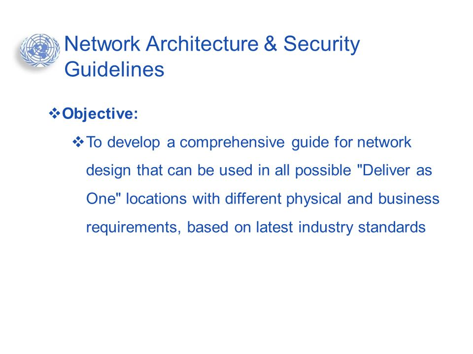 Network Architecture & Security Guidelines