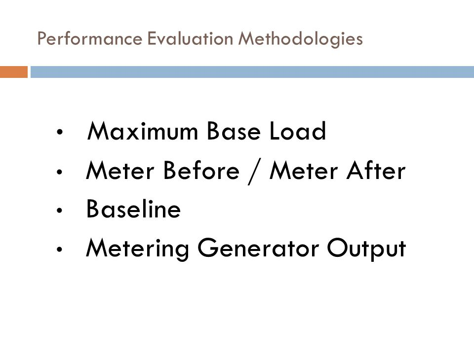 Performance Evaluation Methodologies