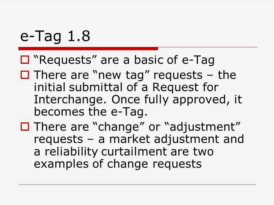 e-Tag 1.8 Requests are a basic of e-Tag