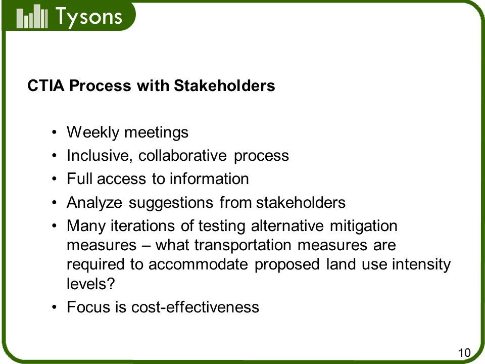 CTIA Process with Stakeholders