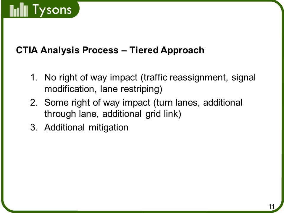 CTIA Analysis Process – Tiered Approach