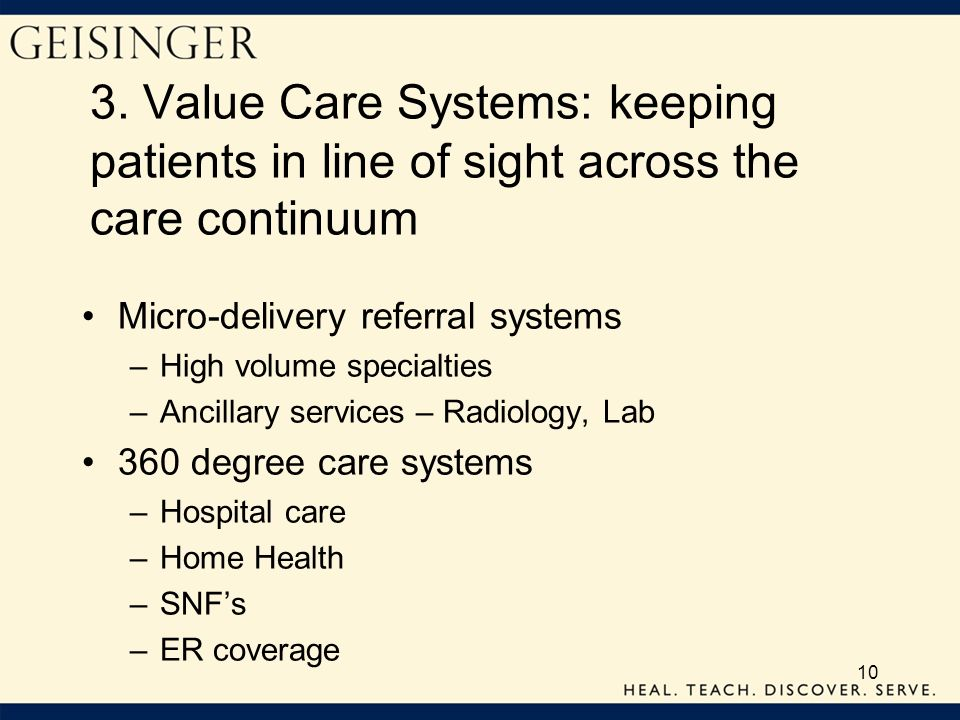 3. Value Care Systems: keeping patients in line of sight across the care continuum