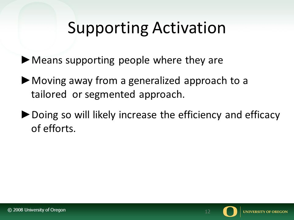 Supporting Activation
