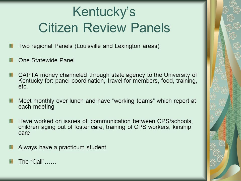 Kentucky's Citizen Review Panels
