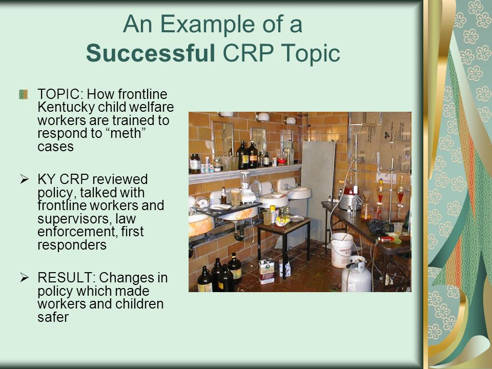 An Example of a Successful CRP Topic