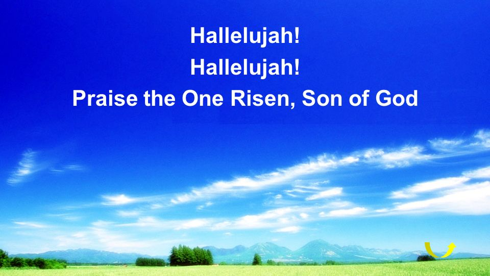 Praise the One Risen, Son of God