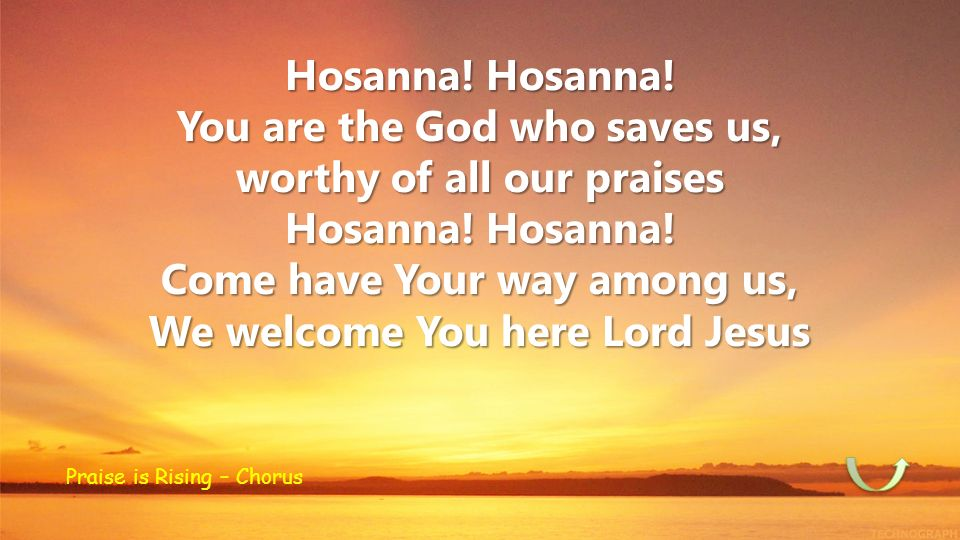 You are the God who saves us, worthy of all our praises