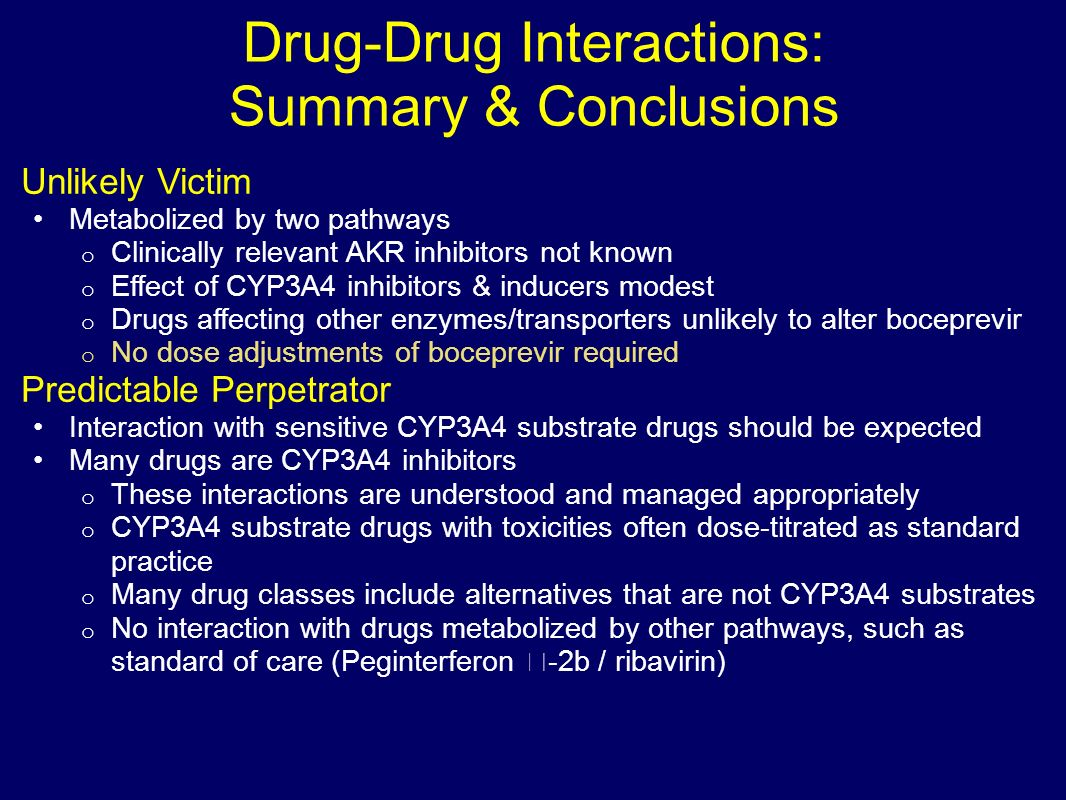 Drug-Drug Interactions: Summary & Conclusions