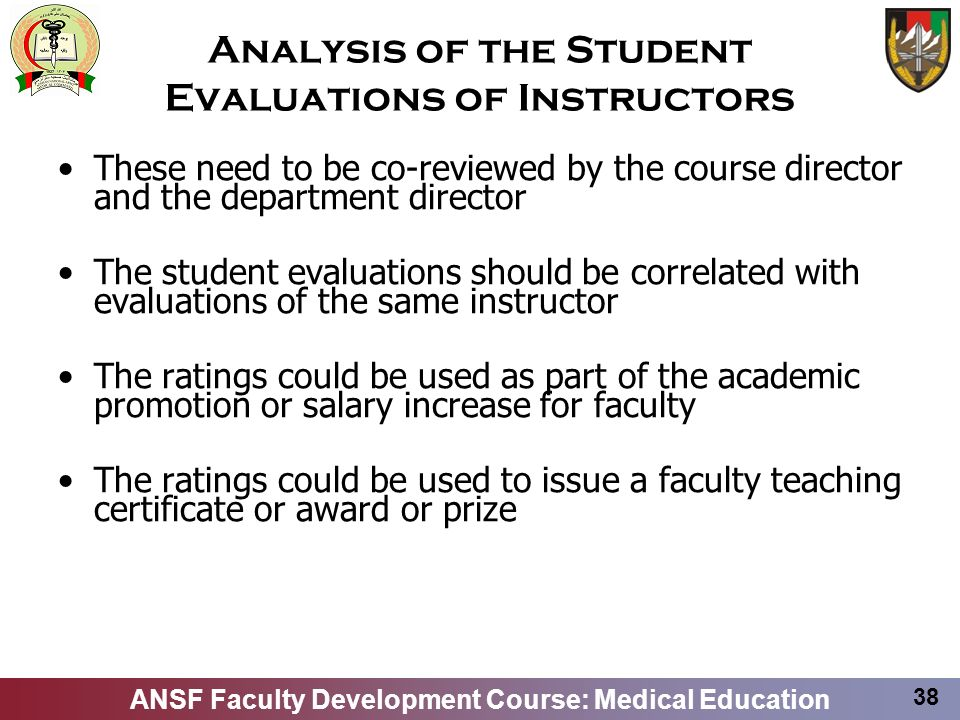 Analysis of the Student Evaluations of Instructors