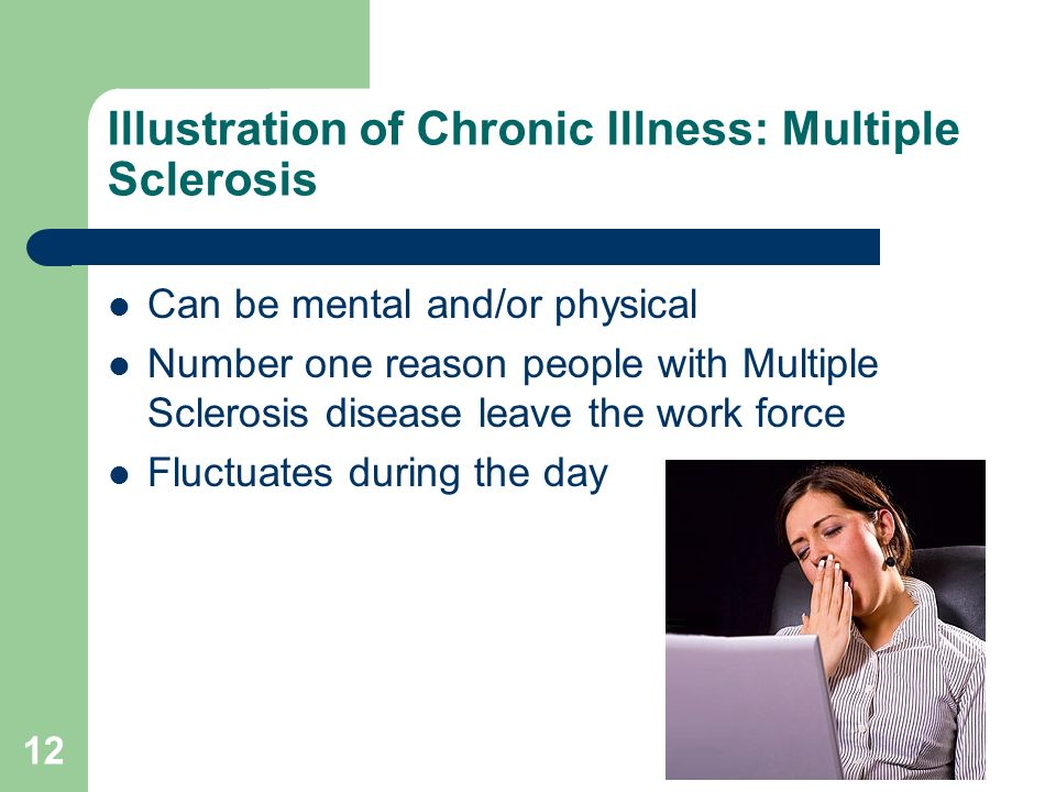 Illustration of Chronic Illness: Multiple Sclerosis