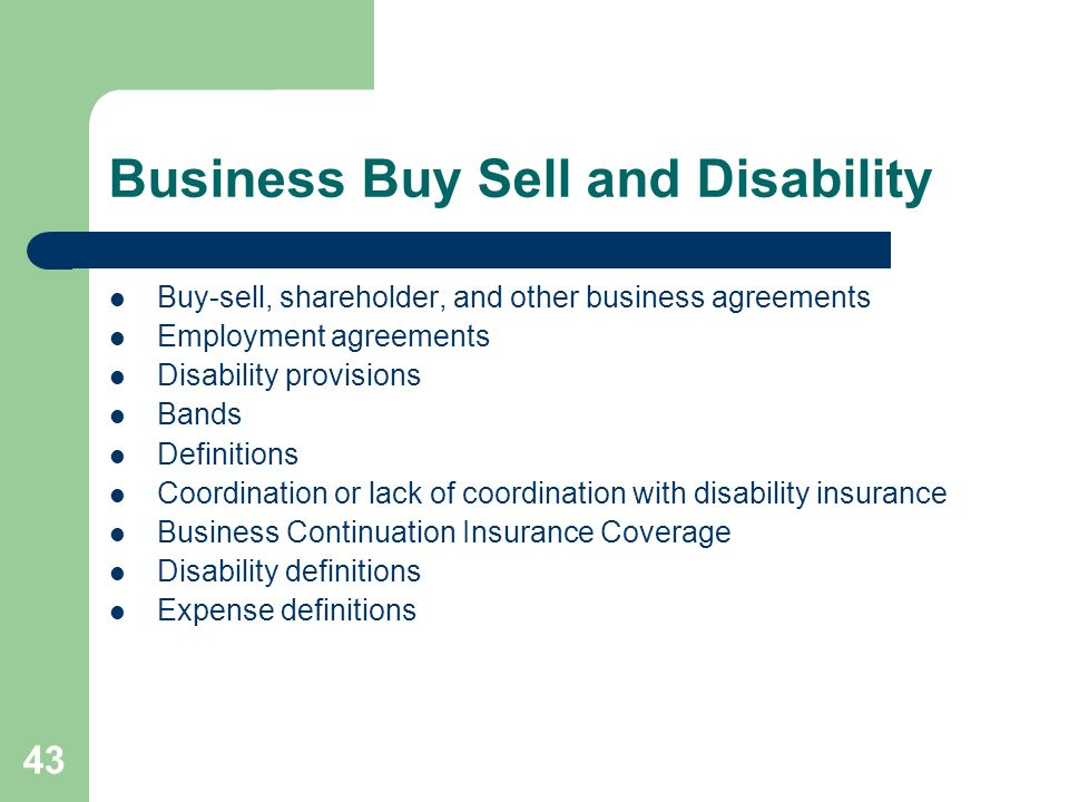 Business Buy Sell and Disability