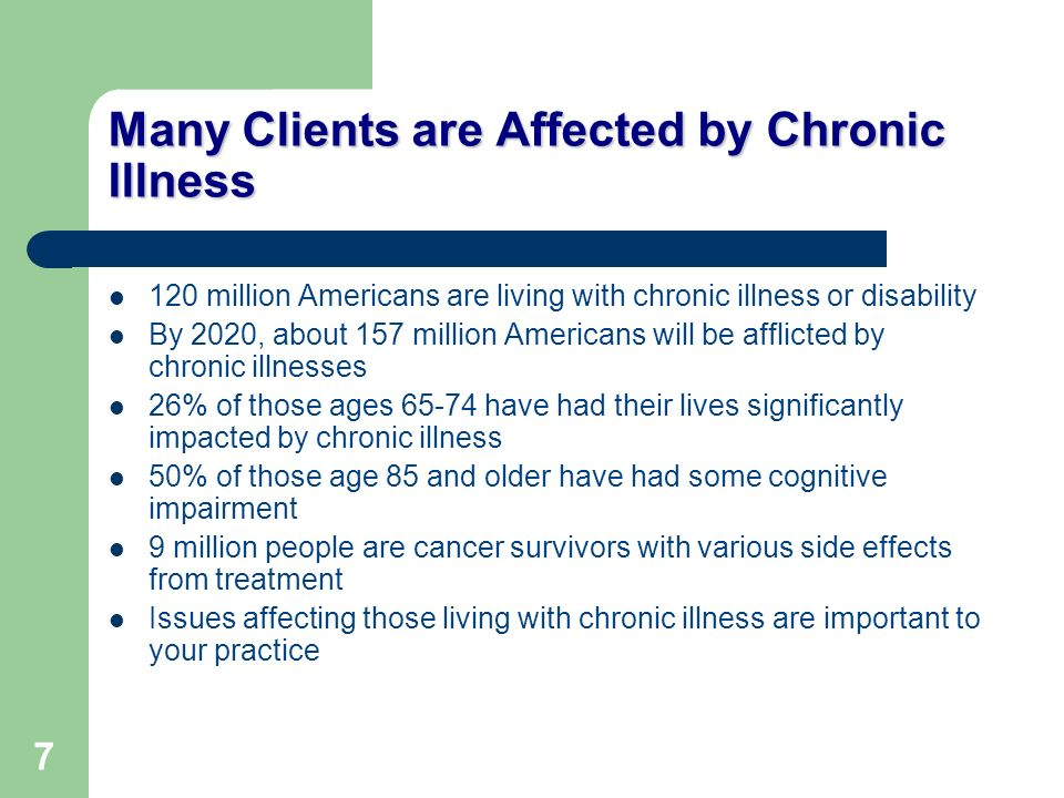 Many Clients are Affected by Chronic Illness