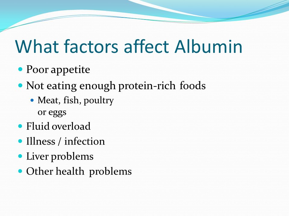 What factors affect Albumin