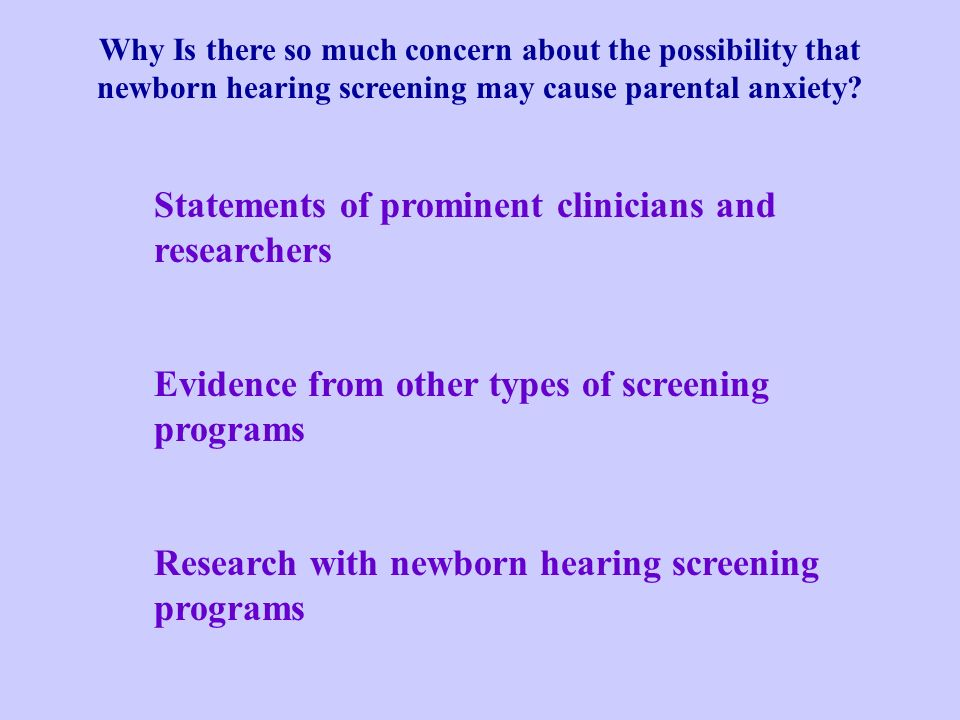 Statements of prominent clinicians and researchers