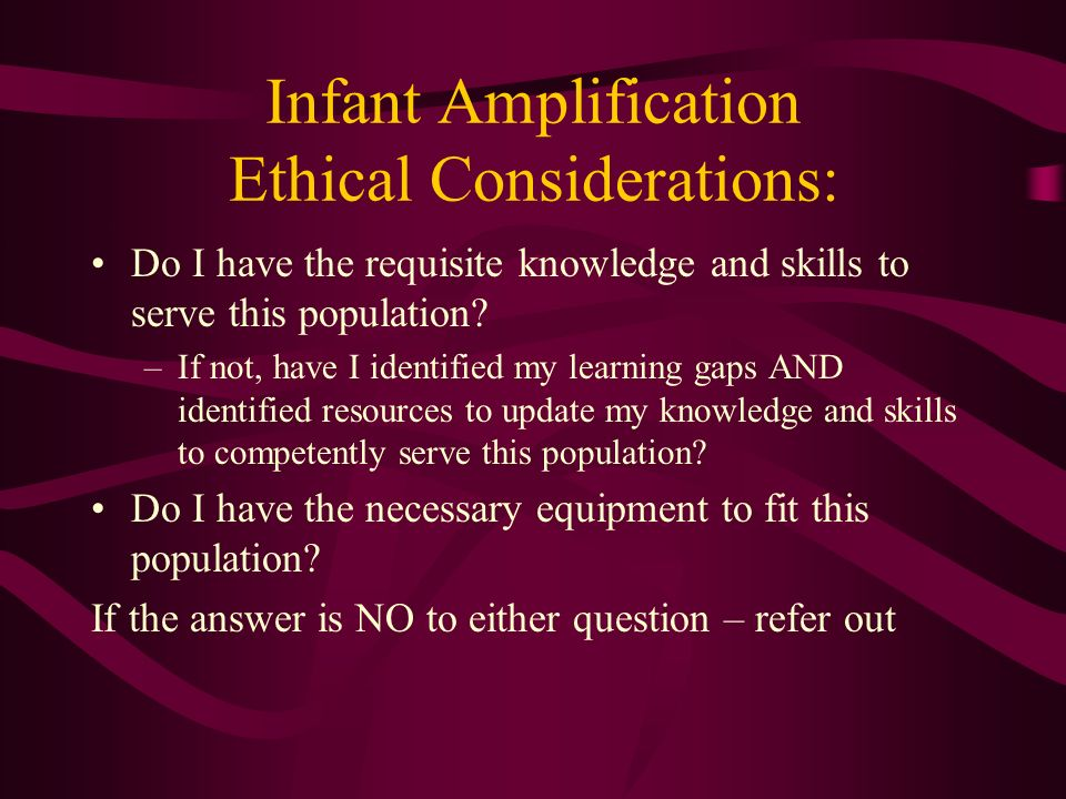 Infant Amplification Ethical Considerations:
