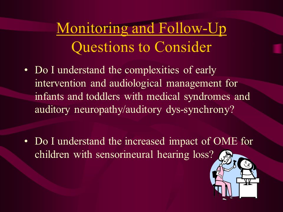 Monitoring and Follow-Up Questions to Consider