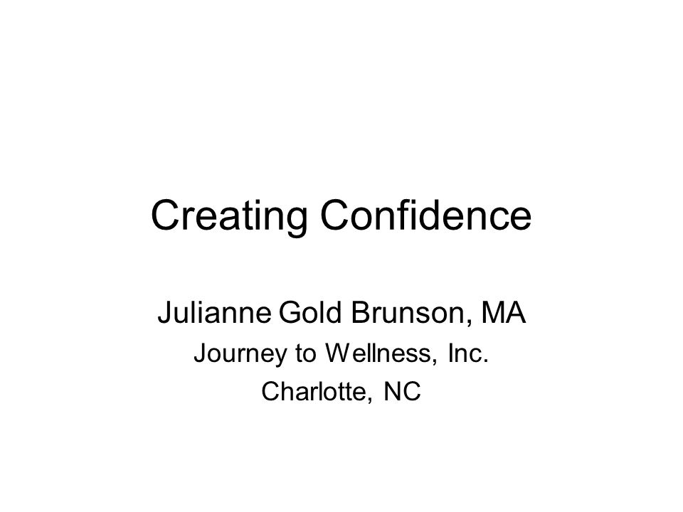 Julianne Gold Brunson, MA Journey to Wellness, Inc. Charlotte, NC