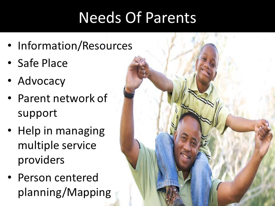Needs Of Parents Information/Resources Safe Place Advocacy