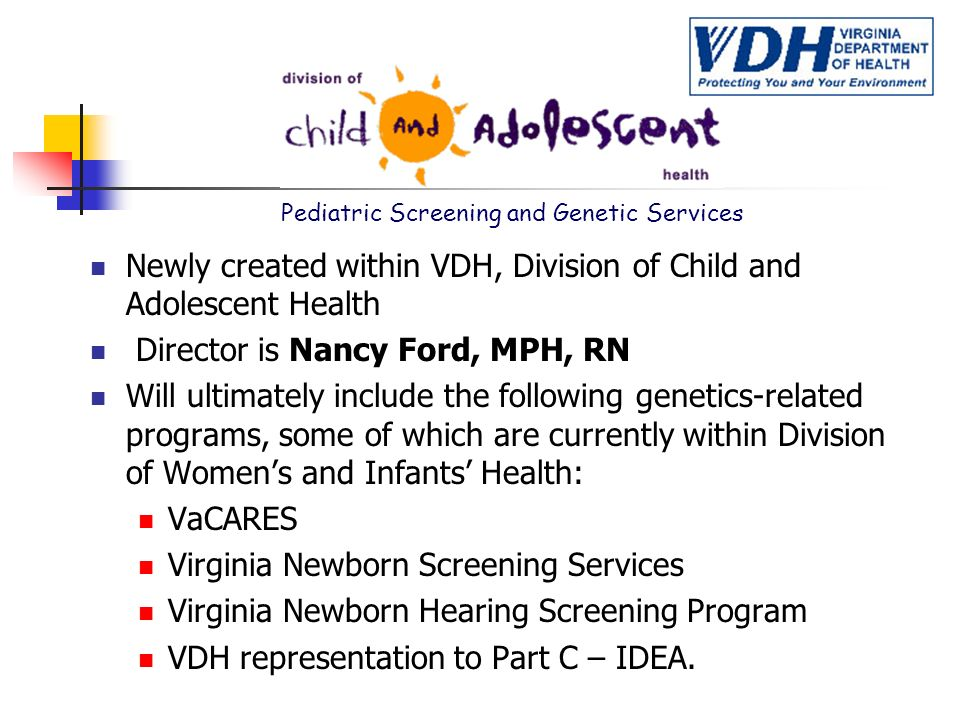 Pediatric Screening and Genetic Services