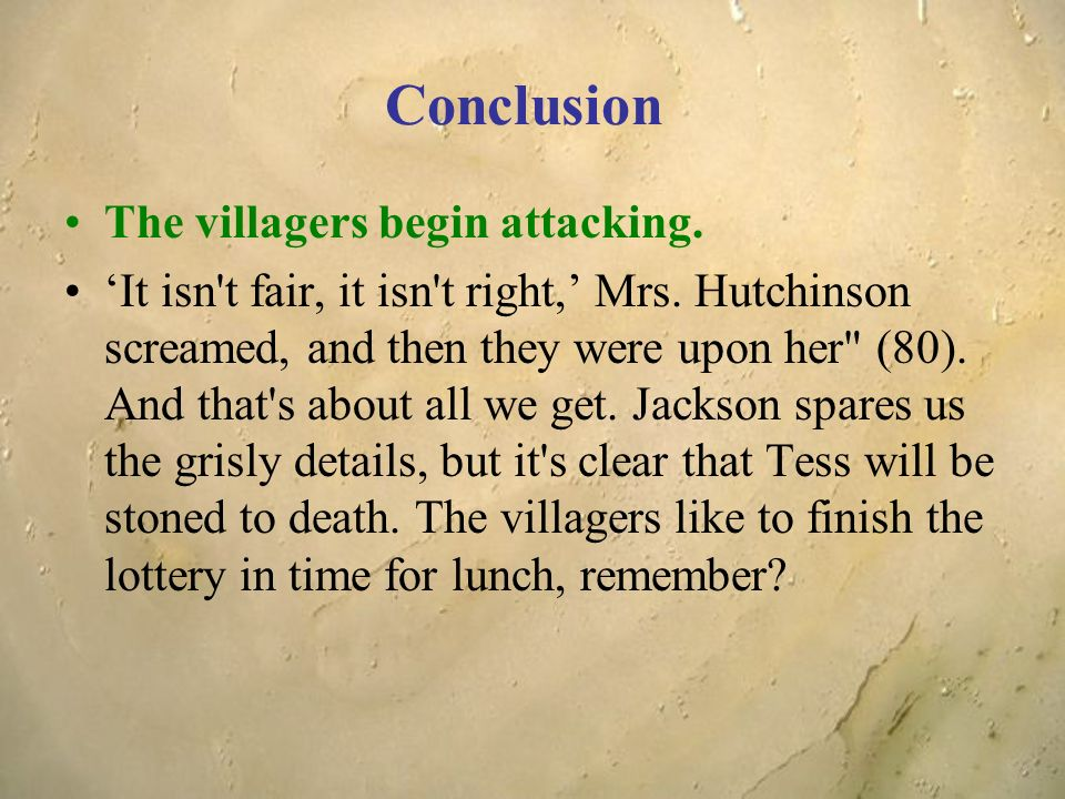 mrs hutchinson in the lottery