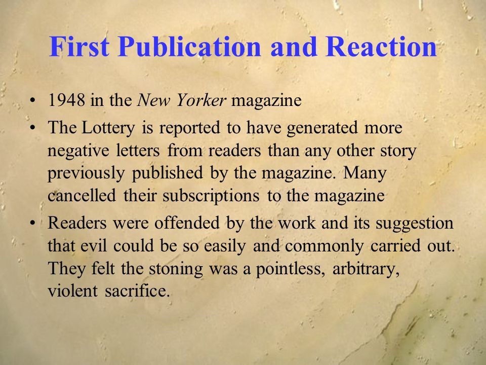 the lottery by shirley jackson point of view