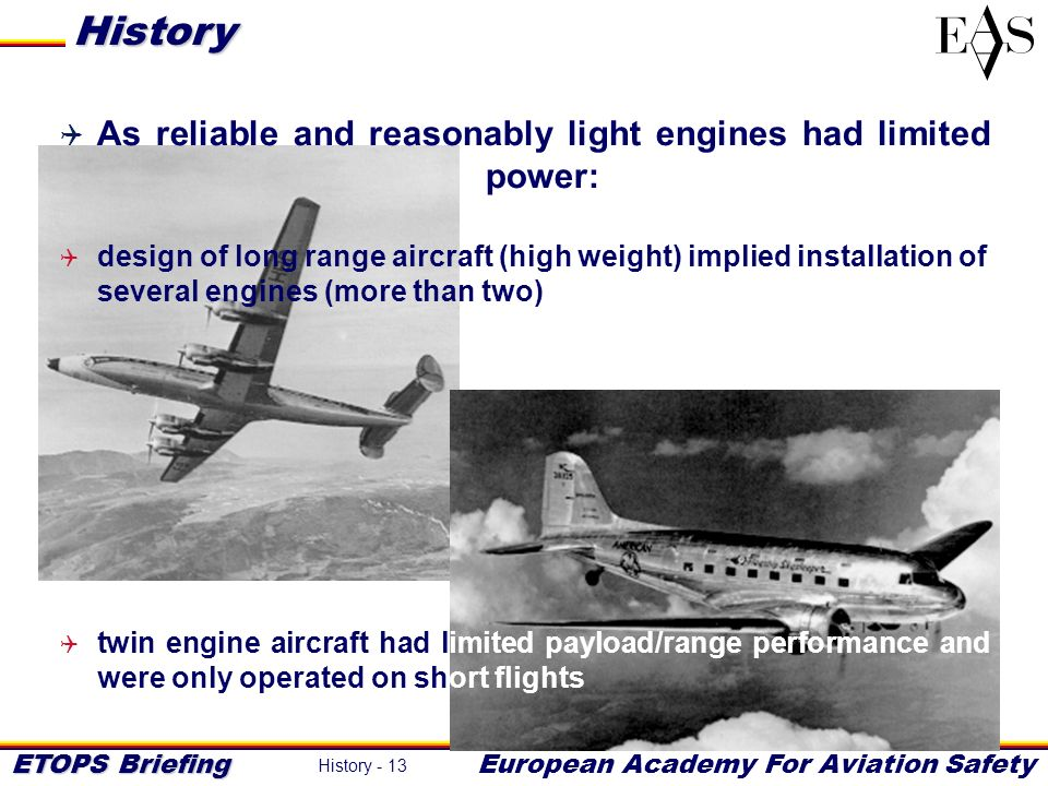History As reliable and reasonably light engines had limited power: